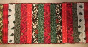 Poinsettia Table Quilt