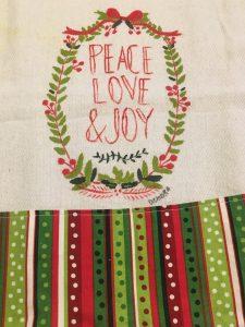 Peace, Love and Joy Towel